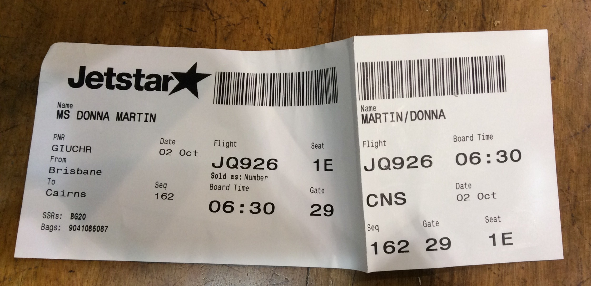 Jetstar Experience – Brisbane to Cairns