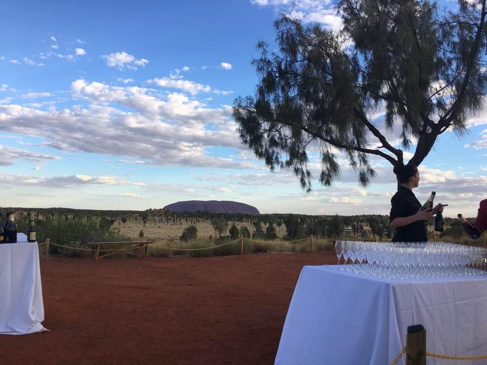 Sunset on Uluru