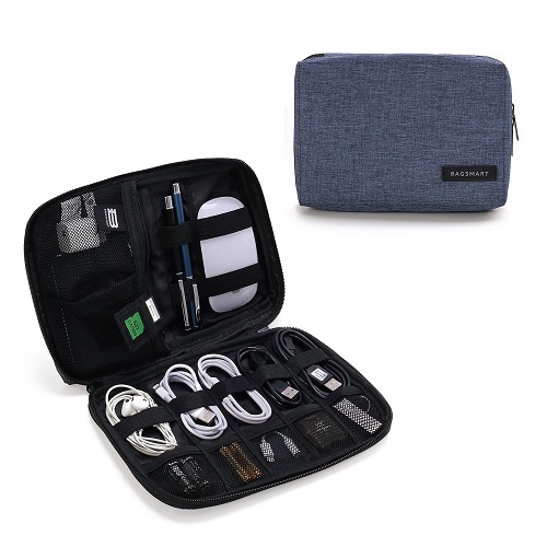 BAGSMART Electronic Organiser Travel Wallet and Universal Cable Organiser