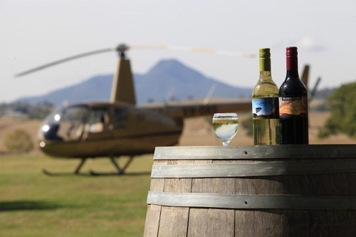 Helicopter tours to winery