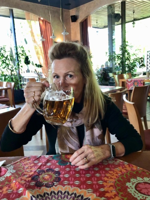 Drinking Polish Beer in Warsaw