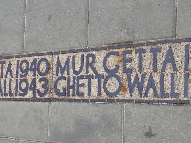 Ghetto Wall 1940-1943 memorial Warsaw