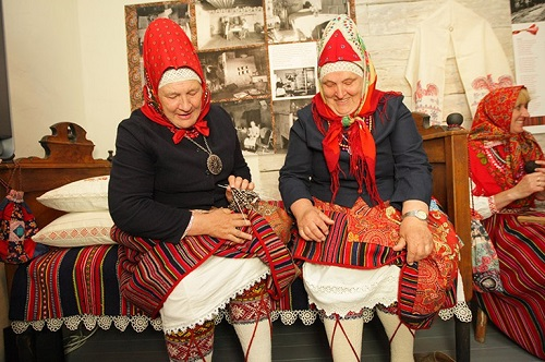 Kihnu women wearing traditional dress