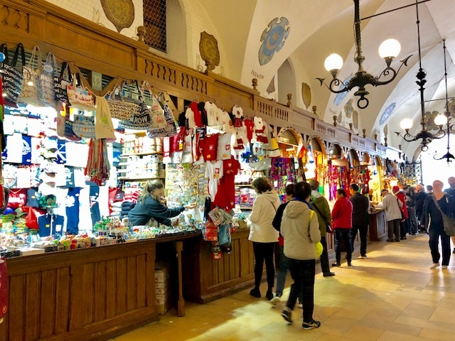 Inside Krakow Cloth Hall