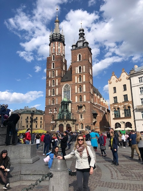 Krakow Old Town Square St Marys Cathedral