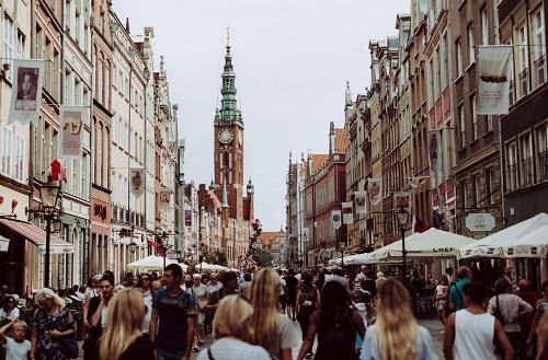 Busy street Gdansk