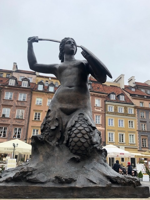 Mermaid Statue Old Town Square Warsaw
