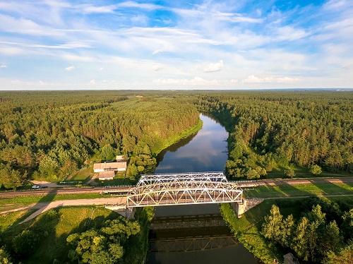 Santaka Bridge Lithuania