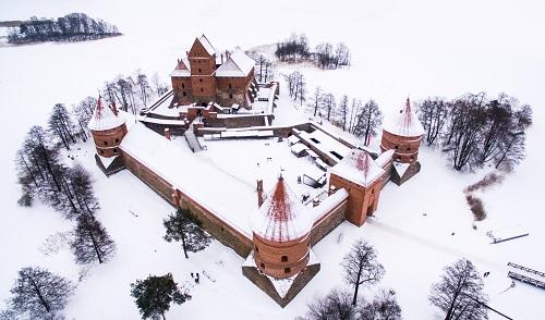 Trakai Island Castle in Winter