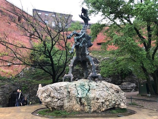 Wawel Dragon Statue Krakow