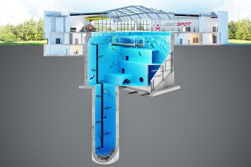 Worlds deepest swimming pool near Warsaw