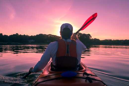 sunset kayak rides