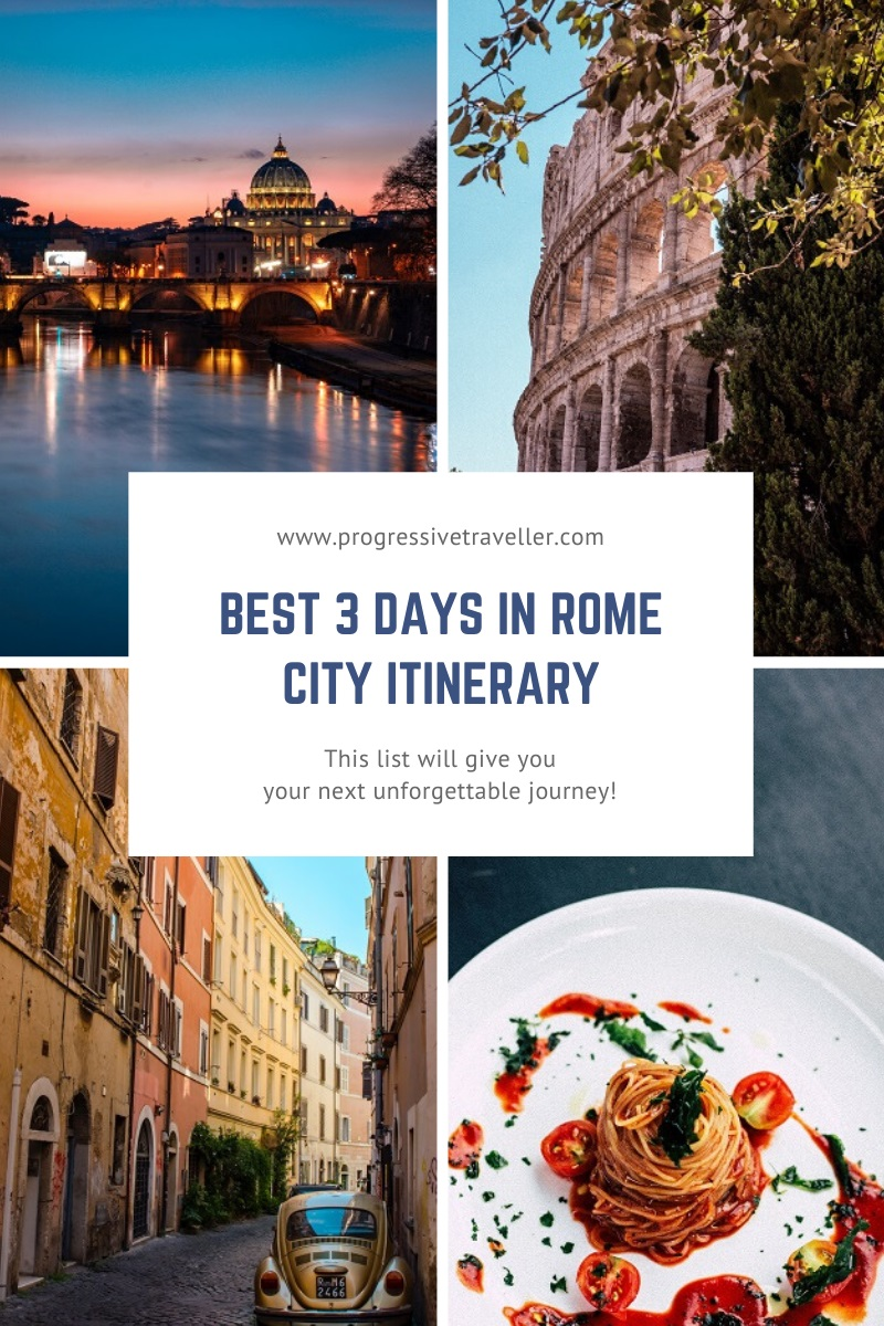 Best 3 Days in Rome City Itinerary