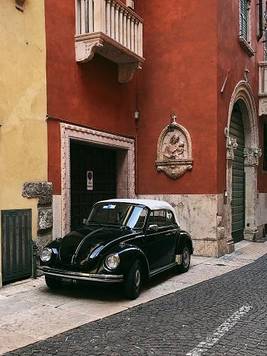 Black VW Car in Verona Italy